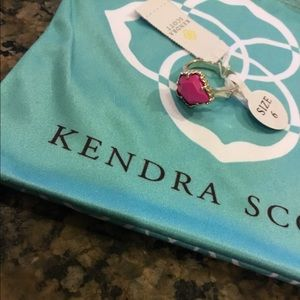 Kendra Scott Magenta Judy Ring